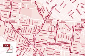 Map of Somerville Walking Trails